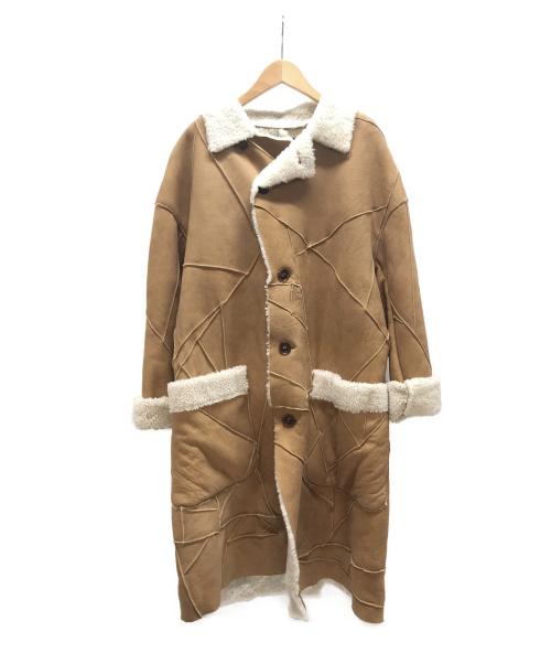 BEAMS(ビームス)BEAMS (ビームス) ムートンコート ブラウン サイズ:M 羊革の古着・服飾アイテム