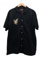 東洋エンタープライズ(トウヨウエンタープライズ)の古着「鹿の子スカポロシャツ」|ブラック