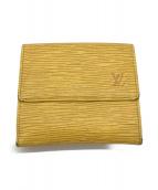()の古着「2つ折り財布」 イエロー×パープル