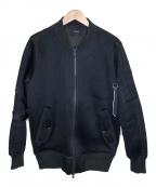 STAMPD(スタンプド)の古着「メッシュストラップボンバージャケット」|ブラック