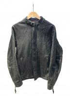 Schott()の古着「レザーシングルライダースジャケット」 ブラック