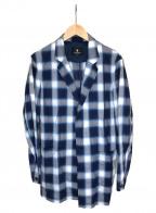 BLACK LABEL CRESTBRIDGE(ブラックレーベルクレストブリッジ)の古着「オンブレチェックジャケット」|グレー×ネイビー