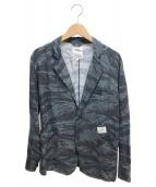 ()の古着「リネン混ジャケット」 ネイビー