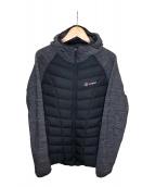 ()の古着「中綿ジャケット」|グレー×ブラック