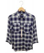 ()の古着「シャツ」|ブルー×ホワイト