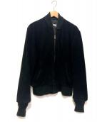 ()の古着「スウェードボンバージャケット」|ブラック