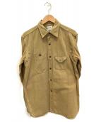 Joe McCOY(ジョーマッコイ)の古着「ワークシャツジャケット」|ライトブラウン