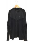 ()の古着「ジップアップテックニットジャケット」|ブラック