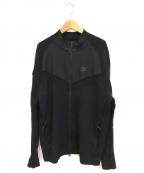 NIKE()の古着「ジップアップテックニットジャケット」|ブラック
