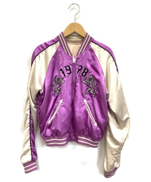 DIESEL(ディーゼル)DIESEL (ディーゼル) スカジャン ホワイト×パープル サイズ:XS 春秋物の古着・服飾アイテム