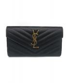SAINT LAURENT PARIS(サンローラン パリ)の古着「長財布」 ブラック