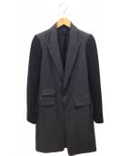 DIESEL BLACK GOLD(ディーゼルブラックゴールド)の古着「ジャケット」|グレー×ブラック