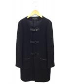UNITED ARROWS TOKYO(ユナイティッドアローズトウキョウ)の古着「ノーカラーロングコート」|ブラック
