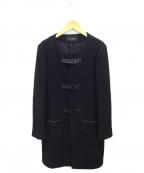 UNITED ARROWS TOKYO(ユナイテッドアローズトウキョウ)の古着「ノーカラーロングコート」|ブラック