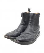 Tricker's(トリッカーズ)の古着「ウイングチップサイドゴアブーツ」|ブラック