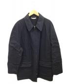 HERMES(エルメス)の古着「ロングジップコート」 ネイビー