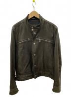 BOSS HUGO BOSS(ボス ヒューゴボス)の古着「レザージャケット」|ブラック