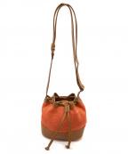 BARNEYS NEWYORK(バーニーズ・ニューヨーク)の古着「ショルダーバッグ」 オレンジ