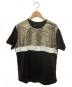 08sircus(ゼロエイトサーカス)の古着「Tシャツ」 ブラック×ゴールド