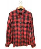()の古着「ウェスタンロングスリーブシャツ」|レッド