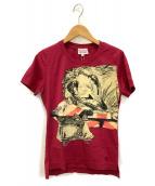 V.W. RED LABEL(ヴィヴィアンウエストウッドレッドレーベル)の古着「半袖カットソー」|ワインレッド
