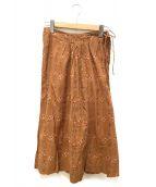 ()の古着「スカート」 ブラウン