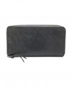 PELLE CONCIATA(イタリア植物ナメシ本革組合)の古着「ラウンドファスナー長財布」|ブラック