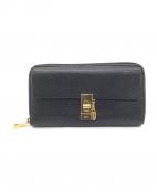 Chloe(クロエ)の古着「ラウンドファスナー長財布」 ブラック
