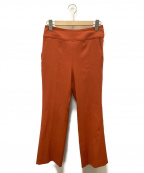 Mila Owen(ミラオーウェン)の古着「後ベルト寸たらシガレットパンツ」 オレンジ