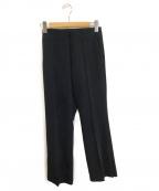 Mila Owen(ミラオーウェン)の古着「サイドベンツイージーシガレットパンツ」 ブラック