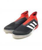 adidas(アディダス)の古着「スポーツシューズ」 レッド×ブラック