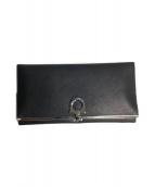 Salvatore Ferragamo(サルヴァトーレフェラガモ)の古着「2つ折り財布」|ブラック
