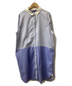latelier du savon(アトリエドゥサボン)の古着「シャツワンピース」|ブルー