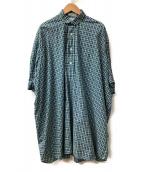 INDIVIDUALIZED SHIRTS for iliann loeb(インディビジュアライズドシャツ フォー イリアンローブ)の古着「プルオーバーシャツ」|グリーン×ネイビー