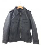 SCHOTT BROS.(ショットブロス)の古着「602USレザーポリスマンジャケット」|ブラック