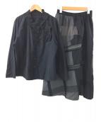 慈雨(ジウ)の古着「シャツ・スカートセット」|ブラック×グレー
