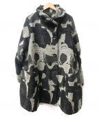慈雨(ジウ)の古着「スタンドカラーコート」|グレー