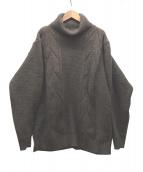 YASHIKI(ヤシキ)の古着「タートルネックケーブルニット」|ブラウン