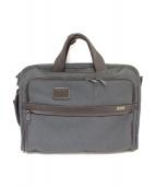 TUMI(トゥミ)の古着「3WAYビジネスバッグ」|グレー×ブラウン