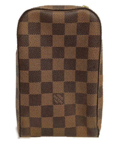 LOUIS VUITTON(ルイヴィトン)LOUIS VUITTON (ルイヴィトン) ジェロニモス ブラウン ダミエ N51994 CA0091の古着・服飾アイテム