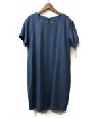 URBAN RESEARCH DOORS(アーバンリサーチドアーズ)の古着「半袖ワンピース」|ブルー
