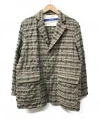 sage de cret(サージュデクレ)の古着「3Bテーラードジャケット」|ブラウン