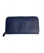 PRADA(プラダ)の古着「ラウンドファスナー財布」|ネイビー
