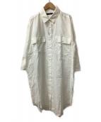 Johnbull(ジョンブル)の古着「ビッグシーピーオーシャツドレス」|ホワイト