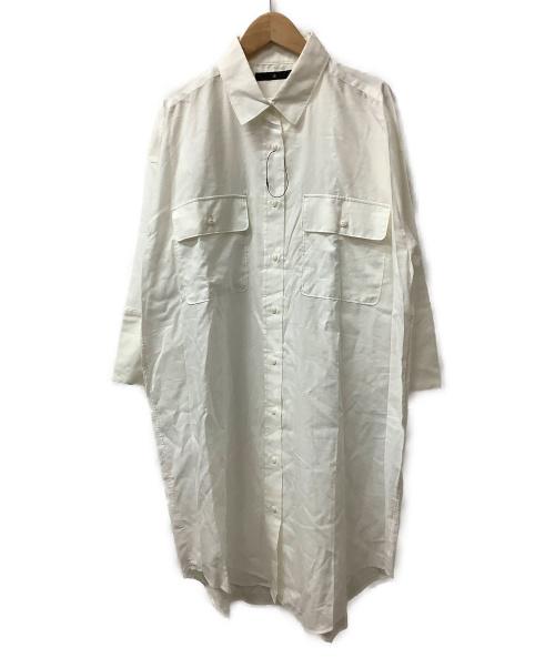 JOHNBULL(ジョンブル)Johnbull (ジョンブル) ビッグシーピーオーシャツドレス ホワイト サイズ:Fの古着・服飾アイテム