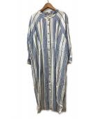Johnbull(ジョンブル)の古着「シャツワンピース」|ブルー×ホワイト