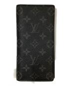 LOUIS VUITTON(ルイヴィトン)の古着「ポルトフォイユ・ブラザ」|ブラック