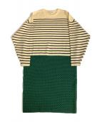 ENFOLD(エンフォルド)の古着「ニットワンピース」|ベージュ