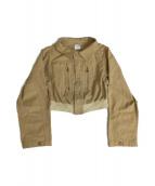 AMERI(アメリヴィンテージ)の古着「ミリタリージャケット」|ベージュ