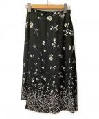 CLANE(クラネ)の古着「ラップスカート」|ブラック×ホワイト